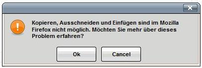 Fehöermeldung Firefox